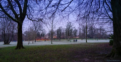 Brr cold! (Rourkeor) Tags: 35mm 35mmzeisssonnartlens carlzeiss eastrenfrewshire rx1r roukenglenpark sony uk branches cold frost fullframe lightshadows park paths people trees walking winter
