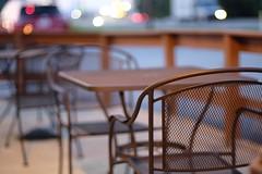 cafe (javan123) Tags: cafe table chairs bokeh fence fujifilm dof hff