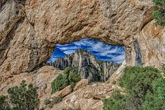 FORAT DE LA VELLA (juan carlos luna monfort) Tags: agujero roca piedra montaña paisaje cieloazul nubes hdr naturaleza nikond7200 irix15 calma paz tranquilidad mas de barberans tarragona montsia o