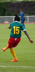 Brésil / Cameroun (saintmalojmgphotos) Tags: saintmalo foot football footballféminin footféminin ballondefoot coupedumondemilitaireféminin 35 illeetvilaine marville stadedemarville brésil cameroune tribunes goal arrière milieudeterrain ailier ailière avantcentre milieudéfensif
