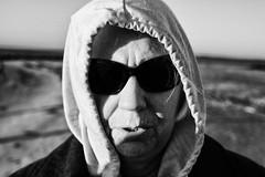 Sue (JCTopping) Tags: woman 6d 50mm beach canon blackandwhite sunglasses capecharles virginia unitedstates us
