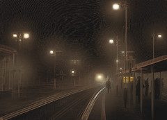 speyside 2gzhh (duncan!) Tags: ©2018duncanwadeallrightsreserved leica m10 voigtlander 50mm f12 nokton abstract extreme railway station early morning fog cold dark crystalcity