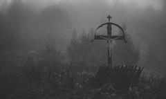Forgotten symbols (Pan.Ioan) Tags: cross belief nature outdoors trees symbol no people blackandwhite monochrome worship spirituality