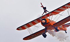 Topsy-turvy... (Ian A Photography) Tags: aeroplanes aerobatics aerosuperbatics aircraft boeing boeingstearman bigginhill planes stearman pt17 wingwalkers