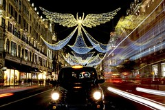Everyone Else Takes This Why Not Me (Douguerreotype) Tags: london uk dark vehicle taxi angel christmas car buildings street lights shopping architecture city night bus gb urban england