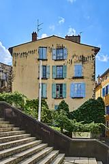 Trompe l'oeil (markbangert) Tags: house windows trompeloeil puy velay cathedral