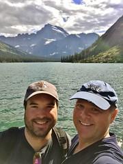 Glacier Selfie at Lake Josephine (TagDragon) Tags: park water selfie lake mountain roadtrip vacation nps 2018 nationalparkservice glaciernationalpark