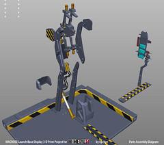 LaunchArmBase_08 (kyewans) Tags: macross himetalr display base launch arm 3d print