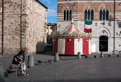 """ Waiting for the carousel "" (pigianca) Tags: carousel leicam10 leicasummicron35mmivrelease streetphoto urbanphoto"
