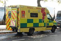 LX67 AEM (Emergency_Vehicles) Tags: lx67aem london ambulance service 839 poppy rememberanceday