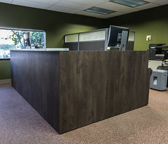 Reception Workstation - Harris Worksystems_111018 Install - Dr Preiss (Harris WorkSystems) Tags: ergonomic office furniture oregon portland reception desk