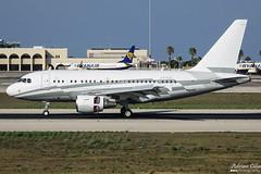 Private --- Airbus A318CJ Elite --- LX-GJC (Drinu C) Tags: adrianciliaphotography sony dsc rx10iii rx10 mk3 mla lmml plane aircraft aviation private airbus a318cj elite lxgjc a318 bizjet privatejet