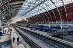 London Nov 2018 053-Edit (Mark Schofield @ JB Schofield) Tags: london paddington railway station rail train commute wrought iron arched burger king bar stall ticket turnstile