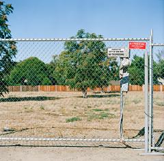 Bascom // San Jose (bior) Tags: hasselblad500cm portra160nc expiredfilm mediumformat 120 6x6cm hasselblad sanjose bascom street fence chainlink empty