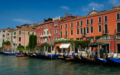 Colours of Venice, Italy (Bokeh & Travel) Tags: venice venezia italia italy architecture canal gondola facade colourful mediterranean