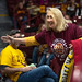 A Minnesota Golden Gophers fan cheers for the home team