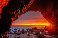 Malibu Sea Cave Sunset Red & Orange Clouds Fine Art El Matador State Beach California Landscape Seascape Photography! Sony A7R III & Sony FE 16-35mm f/2.8 GM G Master Lens! High Res 4k 8K Photography! McGucken Fine Art Pacific Ocean! Sony A7RIII A7R3! (45SURF Hero's Odyssey Mythology Landscapes & Godde) Tags: malibu stormy sunset red orange clouds fine art el matador state beach california landscape seascape photography sony a7r iii fe 1635mm f28 gm g master lens high res 4k 8k mcgucken pacific ocean a7riii a7r3