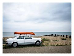 Sea Worthy (Wil Wardle) Tags: wilwardle photography adobelightroom ebphoto eastbourne eastsussex exploringtheautomobile carportraiture carportrait urbanscenesandscapes streetphotography retro vintage streetstyle britain britishphotographer england hauwei p20 mercedes mercedesbenz kayak seafront seaside beach
