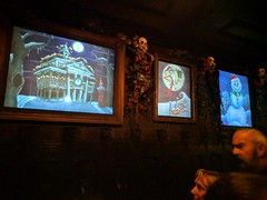 Nightmare hallway paintings, Haunted Mansion,  Disneyland, Anaheim, California, USA (gruntzooki) Tags: disneyland anaheim orangecounty losangeles la ca dl disney california usa hauntedmansion hauntedmansionholiday