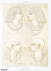 Types & Portraits from Histoire de l'art égyptien (1878) by Émile Prisse d'Avennes (1807-1879). Digitally enhanced by rawpixel. (Free Public Domain Illustrations by rawpixel) Tags: otherkeywords anillustrationoftheegyptian ancient ancientegyptian ancientegyptianart antique archaeological archeology art carving cc0 design designing drawing dynasty egypt egyptian egyptiankingdom egyptology empire gods handdrawn histoiredelartégyptien historical history illustration mythology old oldfashioned outlines outlinesfromtheantique pattern portrait psd romans sepia sketch story symbol tomb traditional type vintage worship émileprissedavennes