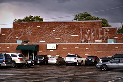 The Rains on the Lanes... (Pete Zarria) Tags: ohio bowling old neon signs urban red brick