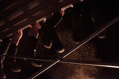 Myschievia (BurlapZack) Tags: fujix100t vscofilm pack01 fujinon23mmf2 hughesspringstx myschievia easttexas behindthepinecurtain babyburningman regionalburn burners feet dangle cinematic scaffolding bonfire fire campvibes camping campingtrip roadtrip weekendgetaway weekendwarriors youth flame effigy sparks
