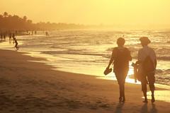 Sunset Walk-3 (Pavlo Kuzyk) Tags: ocean beach couple man woman walking canon