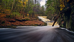 Enders Falls (etanmayhen) Tags: xt20 fuji darktable rokinon rokinon12mm rokinon12mm20 rocks water waterfall longexposure leaves fall autumn connecticut granby forest trees endersfalls endersstateforest foliage