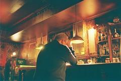 himself (subway rat) Tags: 35mm analog film analogphotography filmphotography olympus μmjuii mjuii mju2 olympusmjuii fuji superia400 fujisuperia400 copenhagen denmark københavn danmark indreby bodega bobibar tuborg carlsberg man night drinking beer shots bar filmforever filmisnotdead filmcamera ishootfilm shootfilm staybrokeshootfilm
