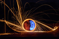 Wire wool spinning. (Ray Duffill) Tags: lightpainting wirewool viewfindersthroughthelens viewfinders hedonviewfinders photographic photographicclub club light
