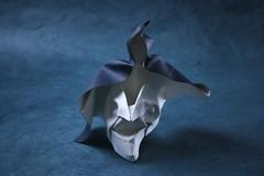 Haunted (pierreyvesgallard) Tags: origami mask ghost folding paper joisel