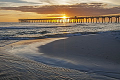 Enjoy the Moments (lightonthewater) Tags: panamacitybeach beach sand sunset pier ocean waves sky sun sunrays lightonthewater gulfofmexico