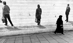 passers-by in Tehran, Iran (2019) (MarcoFlicker) Tags: iran teheran passers by street black white honor 9 tehran