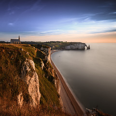 Church and the Elephant (frank_w_aus_l) Tags: church elephant étretat france frankreich nature cliff nikkor nikon d810 1635 longexposure sky light human rocks beach color blue blueish water normandy normandie chapelle notredamedelagarde portedaval aiguille départementseinemaritime fr