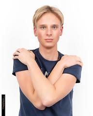 Tom (Fotograaf Harrie Oude Hampsink) Tags: male boy blond model handsome dude