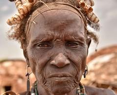 Dassanech Elder (Rod Waddington) Tags: africa african afrique afrika äthiopien ethiopia ethiopian ethnic etiopia ethnicity ethiopie etiopian omovalley outdoor omo omoriver dassanech dassanach tribe traditional tribal village culture cultural grandmother elder portrait people
