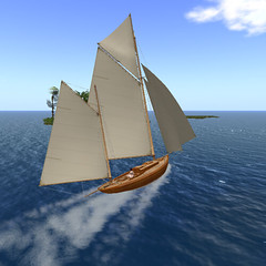 Fruit Islands Residents Only Area _, Kapok (quinn.darkrider) Tags: secondlife sailing cruise boats tiffany