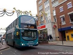 FJ08LVP 4204 Hinckleybus (Arriva Midlands East) in Leicester (Nuneaton777 Bus Photos) Tags: hinckleybus arriva midlands east fj08lvp 4204 leicester