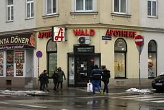 Waldapotheke (Wolfgang Bazer) Tags: waldapotheke waldgasse laaer wald forest favoriten wien vienna österreich austria apotheke pharmacy strasenecke street corner