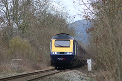 HEREFORDSHIRE FOOTCROSSING (Malvern Firebrand) Tags: 43171 43022 rear ledbury 14119 powercars fgw livery working daytime hst 1w00 0821 london paddington hereford great western railway service 125 intercity 43xxx class43 gwr herefordshire 2019 malvernhills hills scenic countryside rural trains railroad vehicles transport colwall