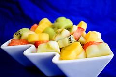 Bowl of fruit (edaqaskitchen) Tags: fruit vegan foodart macro fresh apple kiwi strawberry persimmon breakfast