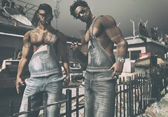 """Little girls grow up to be ladies…Little boys grow up to be big boys…!"" :D (Roy Mildor / RM ~ Art Of Poses ~ CEO) Tags: legalinsanity topstriker letistattoo momevent sl secondlife men male man cool guys tattoo signature applier aarav profile fotograf photographer boys fun"