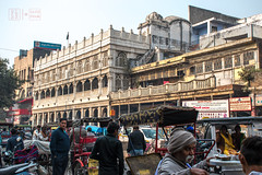 Architectural Glory of Old (shapeshift) Tags: chandnichowk delhi in arcade arches architecture asia candidphotography city davidpham davidphamsf documentary india newdelhi olddelhi people shapeshift shapeshiftnet southasia street streetlife streetphotography traffic travel