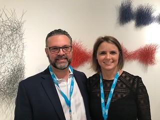 Enrique Castillo and Georgina Chumaceiro at their Booth Artscape Lab at Art Miami