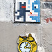 Mosaic installation by Rv2011, pasted paper by Wekup [Paris 10e]