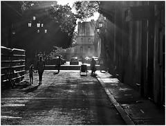 against the light in La Habana (kurtwolf303) Tags: gegenlicht monochrome sonnenstrahlen sunrays kurtwolf303 people persons personen cuba kuba lahabana havanna backlight silhouette bw sw streetphotography city stadt strase villadesancristóbaldelahabana urban olympusem1
