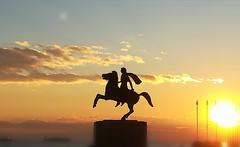 Alexander the Great Thessaloniki Greece (j.iliadis) Tags: alexander alexanderthegreat thessaloniki greece sunset