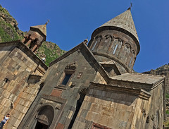 Geghard Monastery (cowyeow) Tags: armenia caucuses composition landscape geghard monastery geghardmonastery old travel historical architecture orthodoxchristianity women girl church