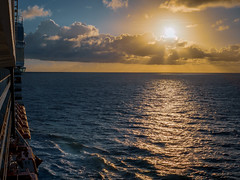 Sunrise at sea (Ed Rosack) Tags: iphone cruise ship landscape calm sunrise cloud water rawformat sky ©edrosack bahamas msoosterdam starscape ocean cloudy dawn bs flickrexplore caribbean edrosackcom
