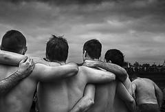 Welsh Swimmers, 2017 (jonnyfriendly) Tags: black white wales porthcawl coney beach ogmore people landscape street